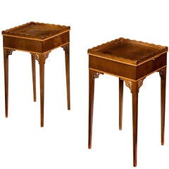 Pair of 19th Century Mahogany Urn Stands
