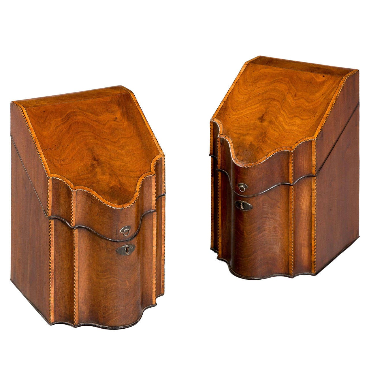 Pair of George lll Period Knife Boxes