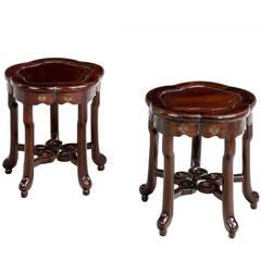 Pair of Late 19th Century Stools