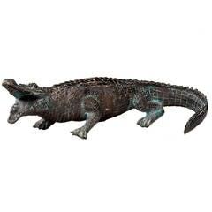 1920s Bronze Figure of an Alligator