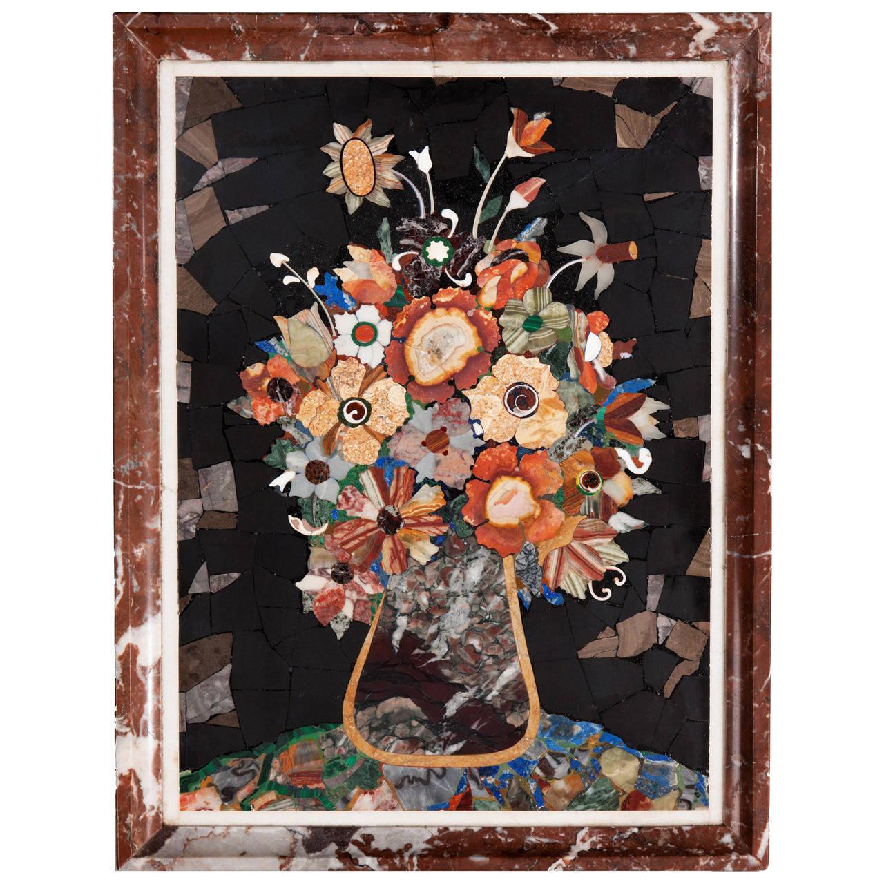 19th Century Pietra Dura Panel For Sale