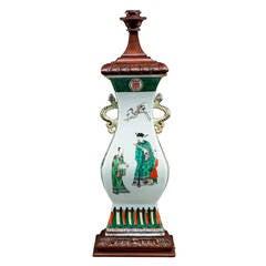 Good Cantonese Porcelain Lamp