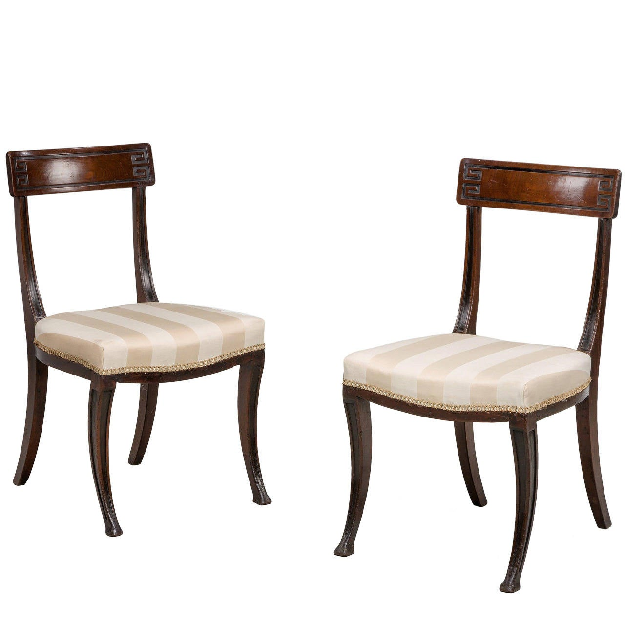 Lovely Pair Of Regency Period Side Chairs 1