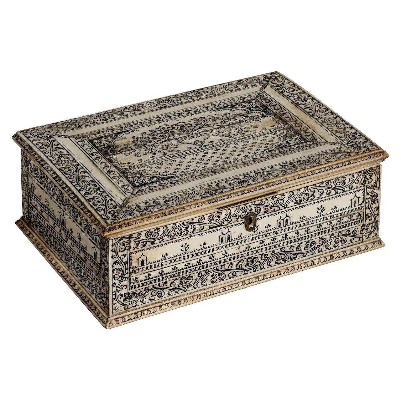 Decorative Bone Boxes : Early th century vizagapatam bone box for sale at stdibs