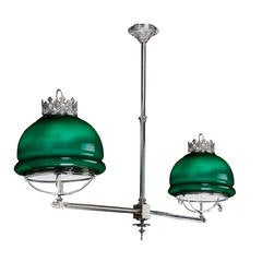Early 20th Century Billiard Table Light
