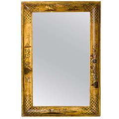 18th Century Chinoiserie Lacquered Cushion Mirror