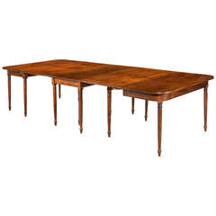 George III Period Mahogany Three Section Dining Table