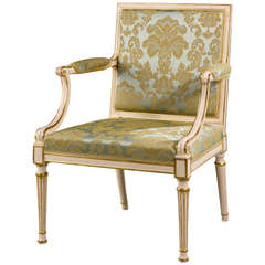 Chippendale Period Parcel-Gilt Elbow Chair