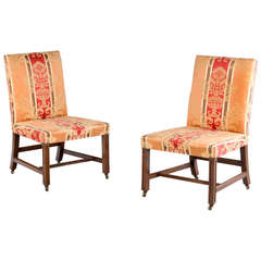 Pair of 18th Century Chippendale Period Side Chairs