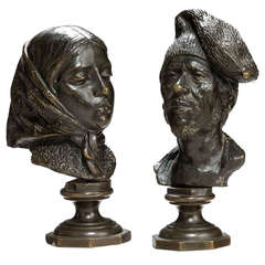 Pair of Mid-19th Century French Desk Bronzes