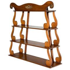 Regency Period Mahogany Hanging Shelves