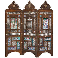 19th Century Middle Eastern Three-Fold Screen