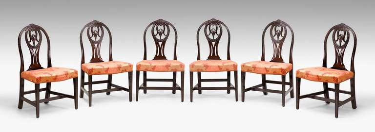 Pair of George III Irish Mahogany Chairs In Good Condition For Sale In Peterborough, Northamptonshire