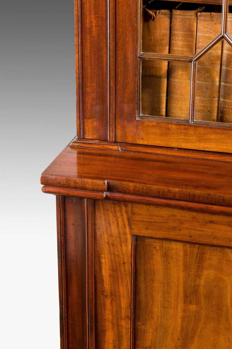 19th Century Regency Period Mahogany Two-Door Bookcase For Sale
