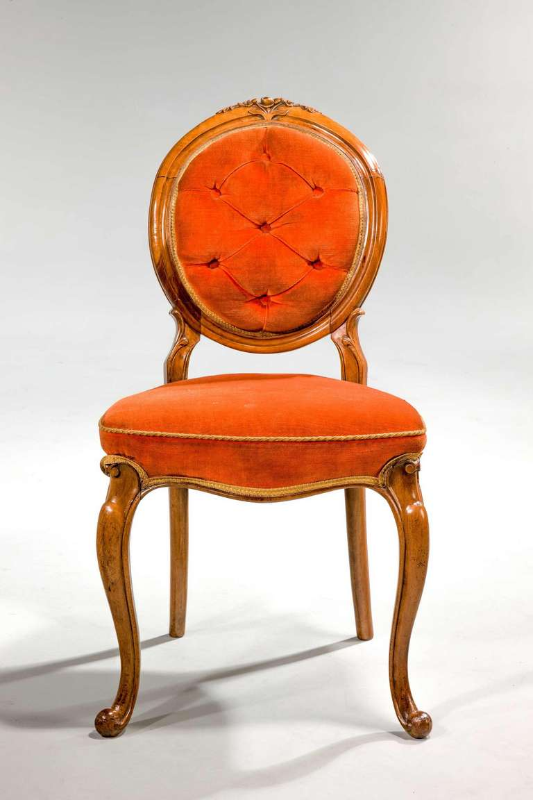 Set of Six 19th Century Satin Birch Dining Chairs In Excellent Condition For Sale In Peterborough, Northamptonshire