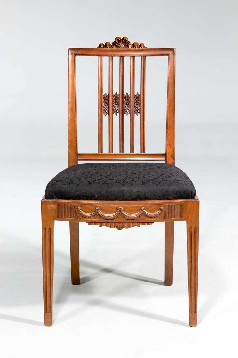 Mahogany Set of Ten 19th Century Dining Chairs For Sale
