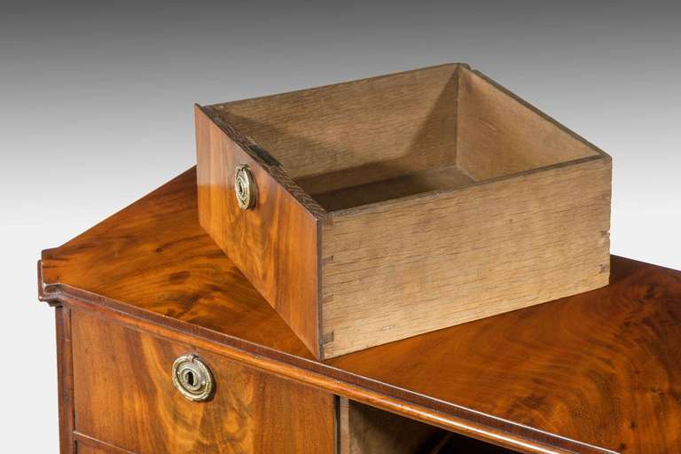 British Early 19th Century Mahogany, Miniature Chest of Drawers For Sale