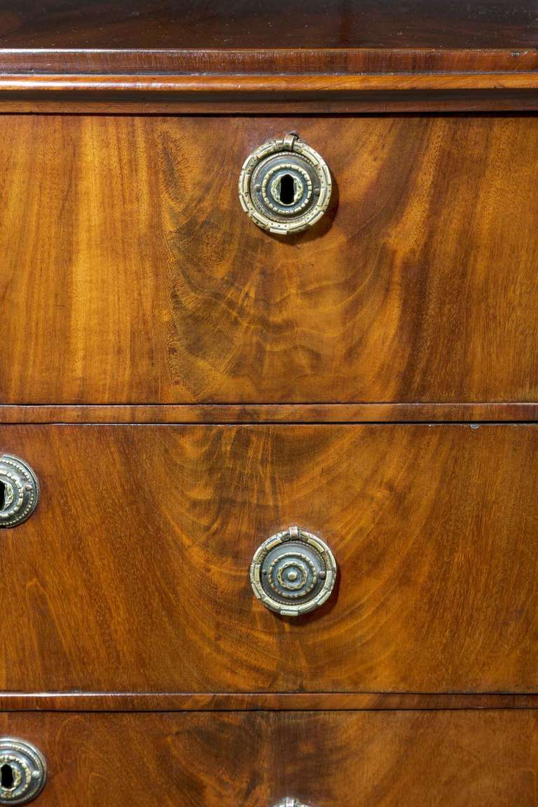 Early 19th Century Mahogany, Miniature Chest of Drawers In Good Condition For Sale In Peterborough, Northamptonshire