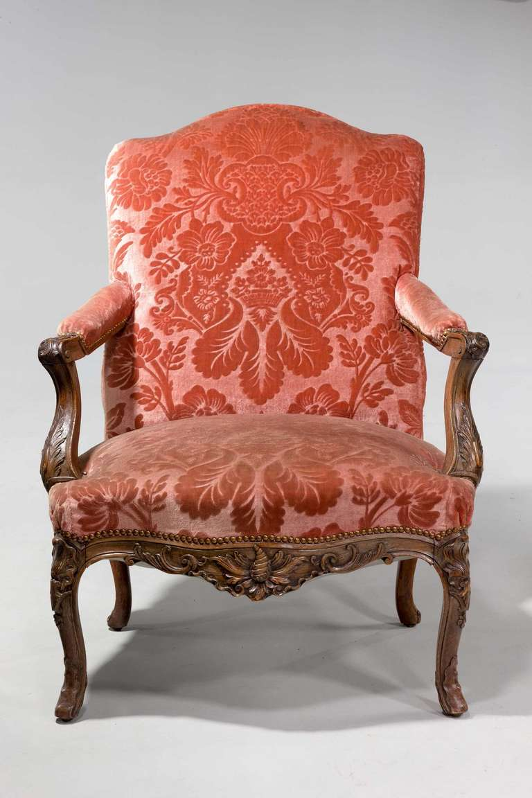 pair of louis xiv design fauteuils for sale at 1stdibs. Black Bedroom Furniture Sets. Home Design Ideas