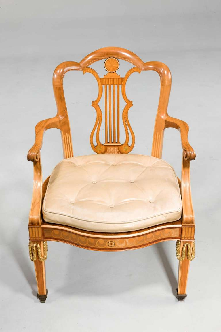 Pair Of Early 20th Century Elbow Chairs For Sale At 1stdibs