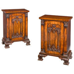 Pair of Regency Period Mahogany Pedestal Cupboards