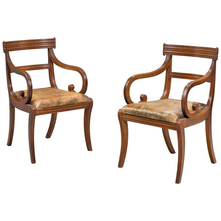 Pair of Regency Period Armchairs