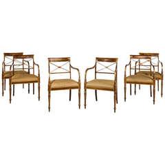Set of Six George III Design Armchairs