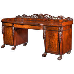 Regency Period Pedestal Sideboard