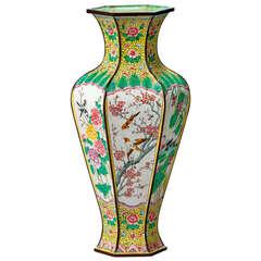 Chinese Hexagonal Shaped Vase