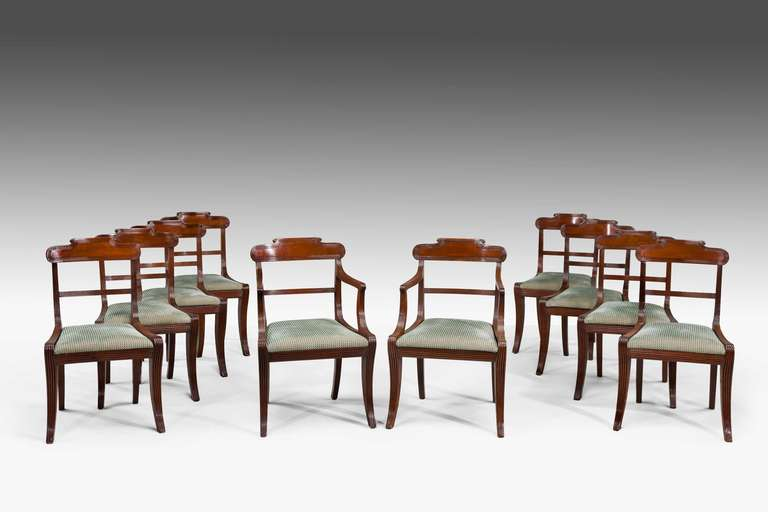 Set Of Ten Regency Period Dining Chairs At 1stdibs