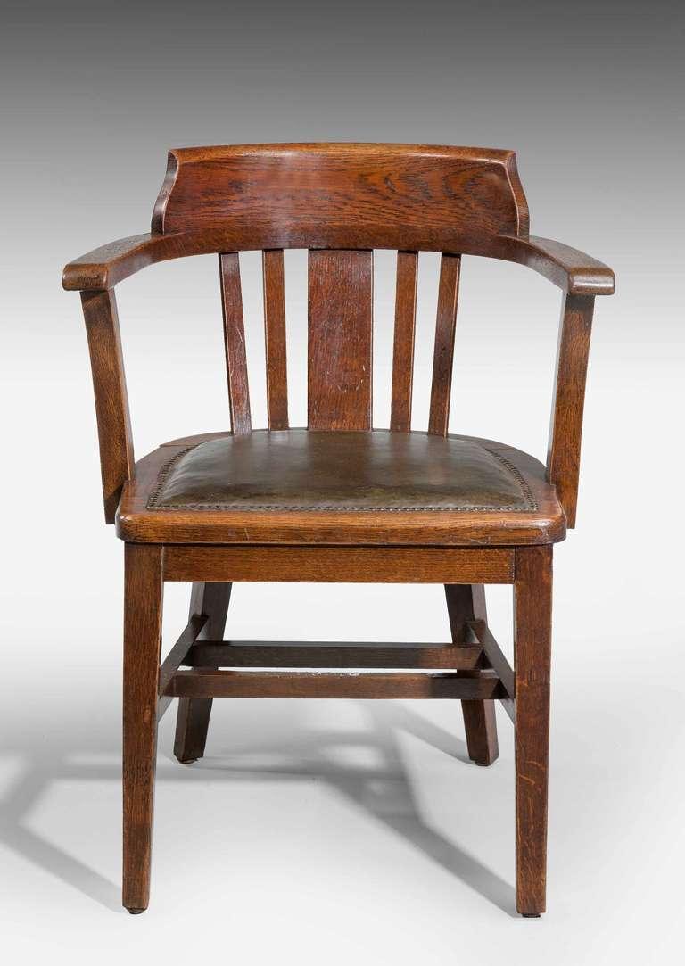 Oak Desk Chair.