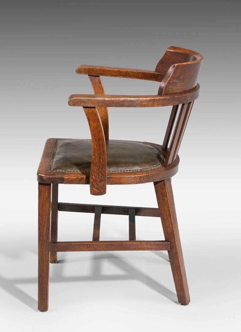 British Oak Desk Chair.