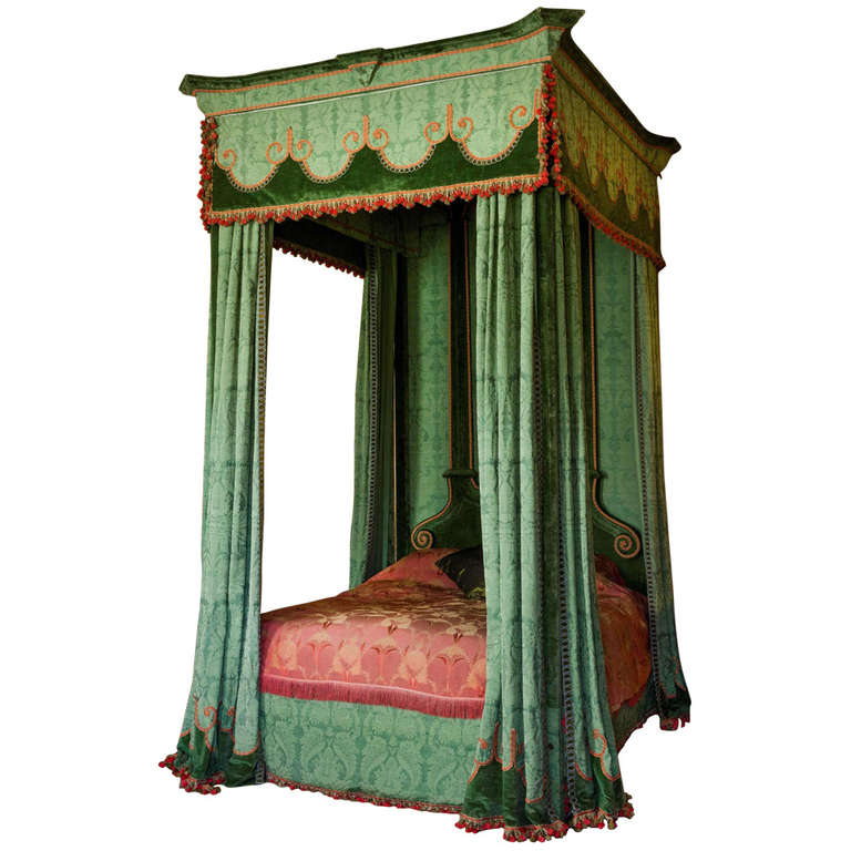 Imposing 17th Century Style Four Poster Bed 1