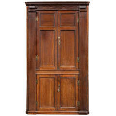 George III Oak Corner Cupboard