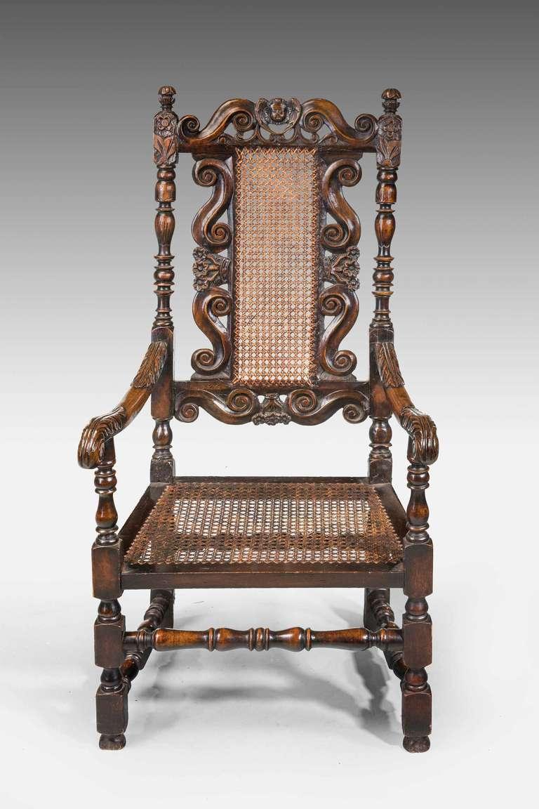 17th Century Style Walnut Armchair For Sale 3