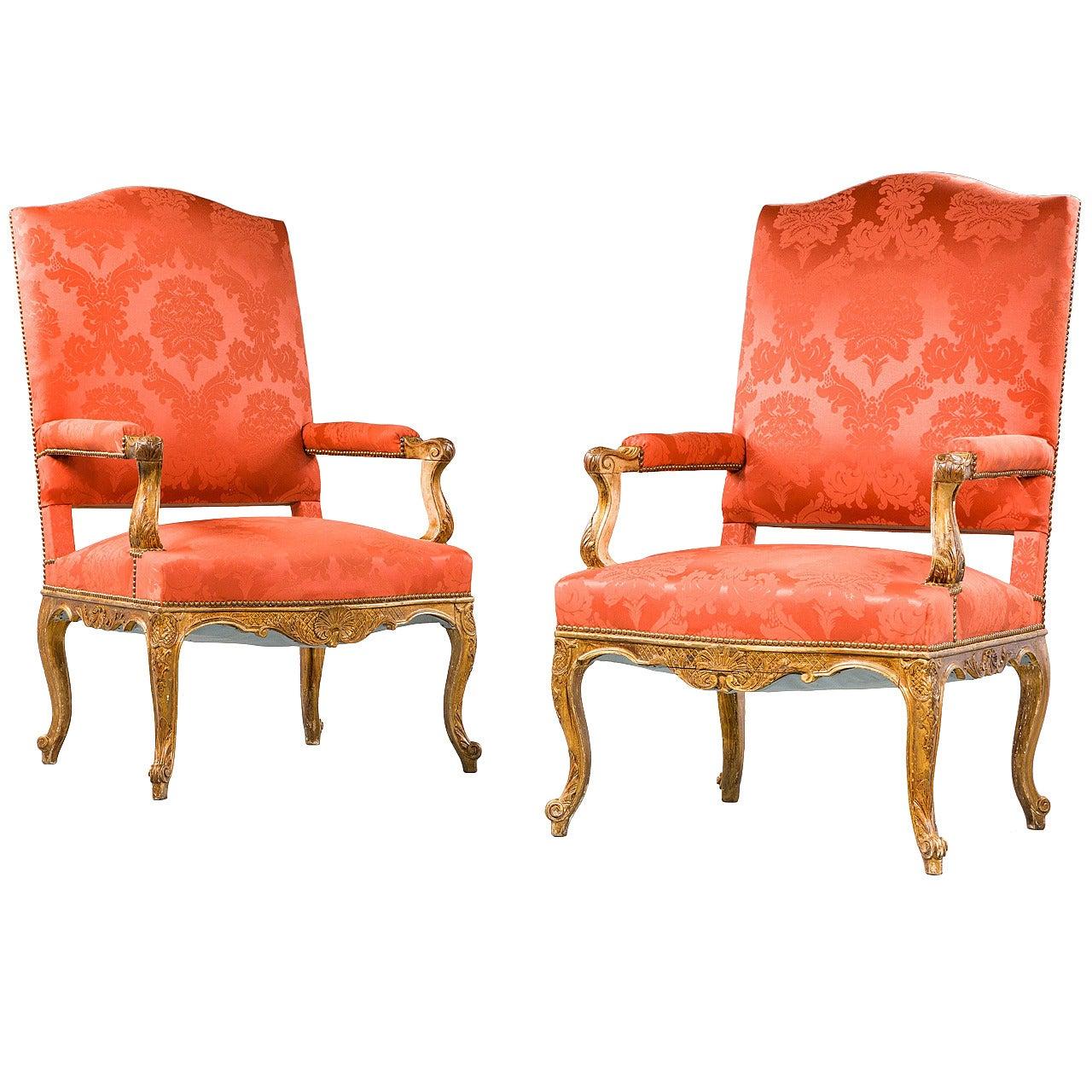 Pair of 19th Century Régence Armchairs
