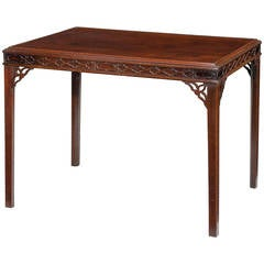 Chippendale Period Silver Table