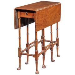 George III Style Mahogany 'Spider-leg' Table.