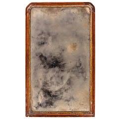 Queen Anne Period Parcel-Gilt and Walnut Pier Mirror