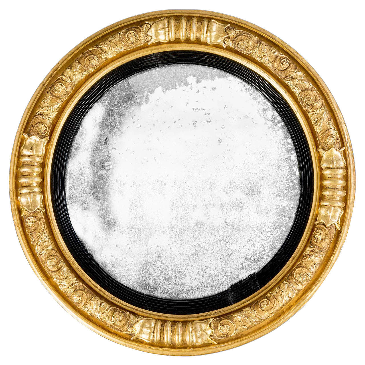 Regency period giltwood convex mirror for sale at 1stdibs for Convex mirror for home
