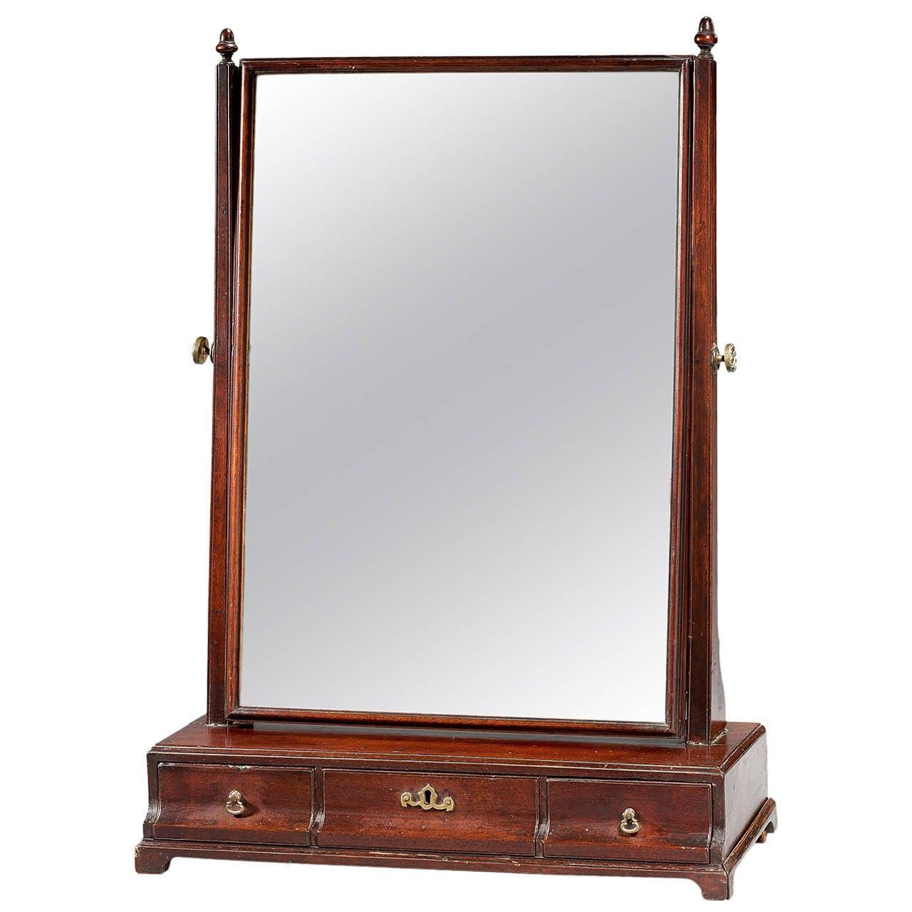 Mid-18th Century Mahogany Dressing Mirror