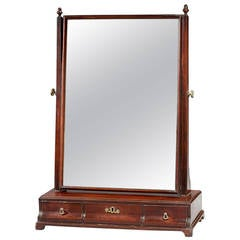 Mid-18th Century Mahogany Dressing Mirror
