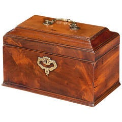 Chippendale Period Mahogany Tea Caddy