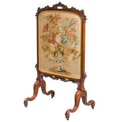 Mid-19th Century Fine Fire Screen
