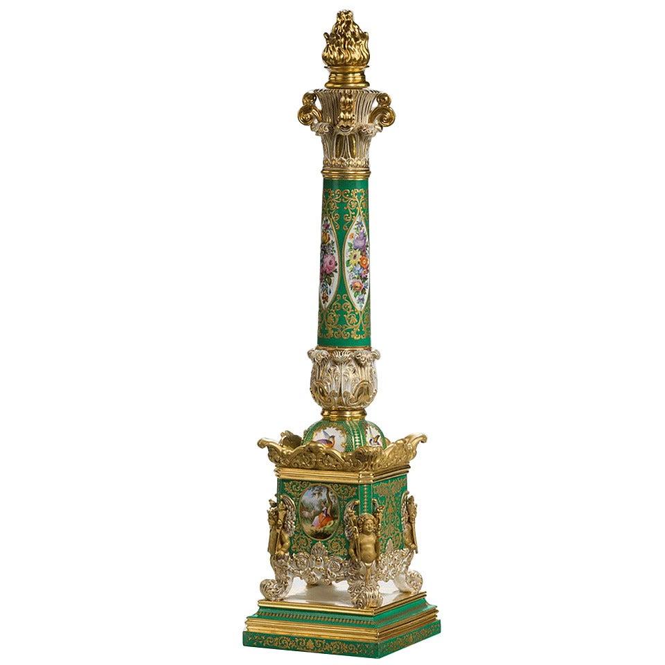 19th Century Jacob Petit Porcelain Column