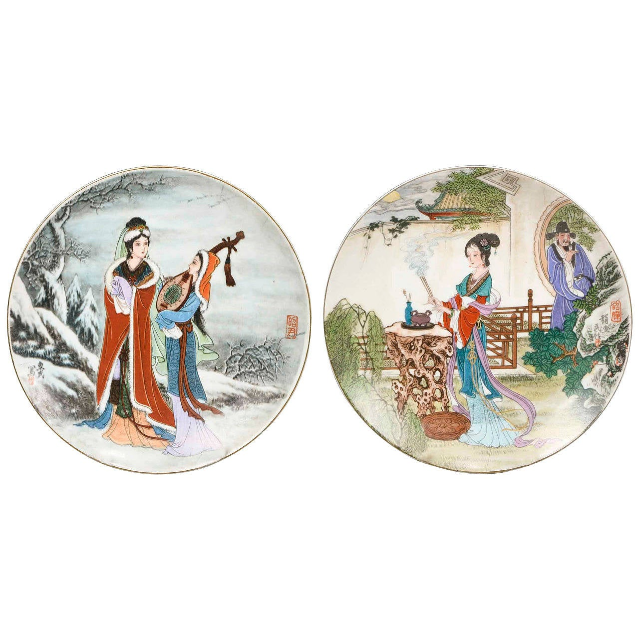 Pair of Japanese Plates For Sale