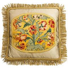 Cushion: 18th Century, Wool with Stylised Foliage