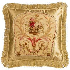 Cushion: 18th Century, Wool. A Gardenia of Flowers