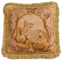 Cushion: 18th Century, Wool. A Reclining Figure.