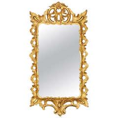 Chippendale Period Rococo Giltwood Mirror